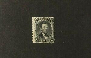 "US #98 15 cent ""F"" GRILL  UNUSED NO GUM 1867 LH LINCOLN"