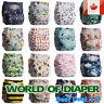 Baby Washable Reusable Real Cloth STANDARD Hook-Loop Pocket Nappy Diaper