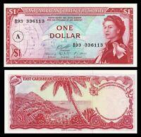 East Caribbean States / Antigua $1 ND (1965) Pick-13h SUPERB QE II  UNC