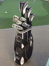 2018 Nickent 4dx Black Deluxe Graphite Golf Pkg Bag Putter & Covers Left Hand