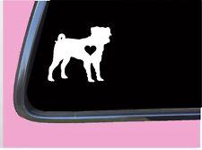 """Puggle lil Heart Tp 579 vinyl 6"""" Decal Sticker dog beagle pug designer breed"""