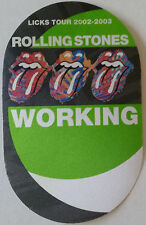 * Rolling Stones * Backstage Pass - 2002 & 2003 Licks Tour - perfect - Working
