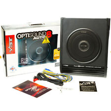 """Vibe Optisound 8 8""""Active Underseat Subwoofer Amplified Bass Box inc wiring kit"""