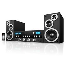 Bluetooth Stereo System Home Theater Speaker Sound Radio CD Player Rack