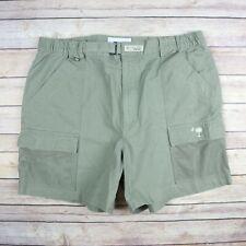 COLUMBIA PFG Men's Cotton Cargo Shorts SIZE L Large Sage Green