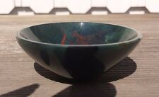 "LARGE 3"" BLOODSTONE STONE HANDCARVED GEMSTONE BOWL [5]"