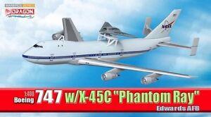 """Dragon Boeing 747 w/X-45C """"Phantom Ray"""", Edwards AFB (Military)~56330"""