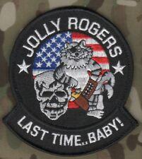 USN VF103 JOLLY ROGERS TOMCAT FIGHTING F-14 JET FIGHTER TOMCAT LAST TIME BABY