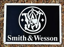 SMITH AND WESSON SIGN Fire Arm Shot Gun Store Repair Shop Advertising 44Mag 7day