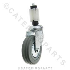 """85kg 100mm 4 """"Ruota CASTOR Girevole con expander per 30mm Square Leg tubing"""