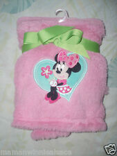 couverture neuve ultra douce rose velours minnie inedit disney **