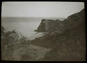 Magic Lantern Slide PEBBLE BEACH SANTA CATALINA CALIFORNIA C1908 PHOTO USA