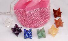 Chakra Set with Pouch Bag Merkabah Merkaba Crystals