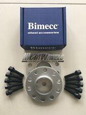 2 X 12 mm Separadores de Rueda de Aleación de Plata Negro Pernos-BMW E90 M3, E92 M3, E93 M3