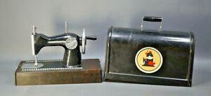 1960s Soviet Russian Singer Bakelite Child's Sewing Machine Hand Crank Toy Box