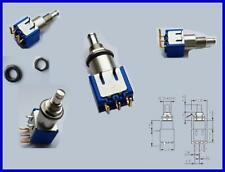 APEM 8436W Miniatur Druckschalter Taster Schalter Rastend wechsel 3A 250VAC 1 x