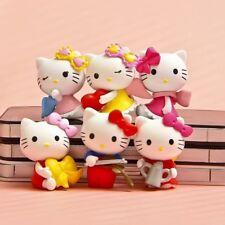 Hello Kitty Cute Doll Anime 6 PCS Hello Kitty Figure Cake Topper Kids Gift Toys
