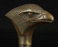 Antique Eagle Statue Old Bronze Hand Carved Cane Walking Stick Head