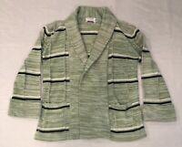 Vintage Donnkenny Women's Green Crawl Collar Cardigan Sweater Size S M L