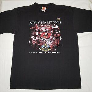 Tampa Bay Buccaneers NFC Champions 2003 T-Shirt Mike Alstott Warren Sapp XL
