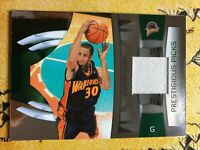 2009 Panini Prestige Stephen Curry Rookie Card # 77/100  Event RC Swatch Patch