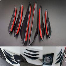6pcs Universal Gloss Black Front Bumper Body Fins Spoiler Canards Splitter Kit