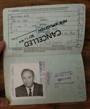Travel Document USA 1973 Judaica