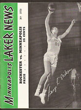 11-22-51 ROCHESTER ROYALS VS MINNEAPOLIS LAKERS PROGRAM  - MIKAN COVER