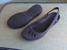 CROCS Brown Malindi Sling back Sandals Shoes Size 4 MINT