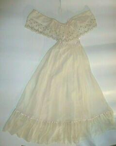 Vintage 70's GUNNE SAX Wedding Prairie Lace Boho Hippy Victorian Maxi Dress Sz.9