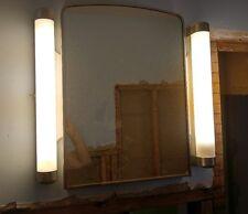 Vintage Lighted Recessed Deco Medicine Cabinet 1960's, Outlet on Side, Works