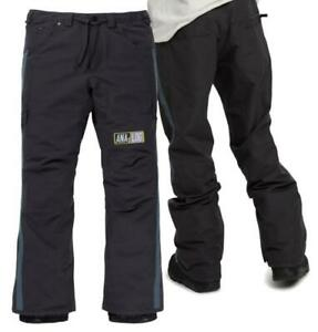 Men's BURTON Analog Thatcher Snowboard Ski Pants PHANTOM Size MEDIUM - Slim Fit