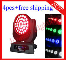 4pcs 36*10W RGBW 4 in 1 Led Zoom Moving Head Light Wash Lighting Free Shipping