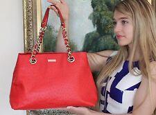 KATE SPADE Victoria Falls Maryanne Shopper Tote Purse $528 SPICE RED OSTRICH
