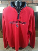 Houston Texans NFL Football 1/4 Zip Fleece Jacket Coat Mens Size XL Texas Red