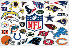 NFL American Football Team logos Large Maxi Poster Art Print 91x61 cm