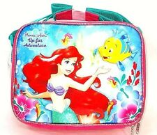 "New Disney The Little Mermaid Ariel 9.5"" Blue & Pink Insulated Lunch Bag"