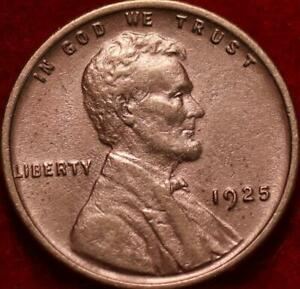 Uncirculated Red 1925 Philadelphia Mint Copper Lincoln Wheat Cent