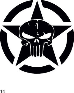 punisher No.14-1  car sticker