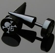 2 unidades Fake Plug expansor para oreja motivo: calavera ywyb 129