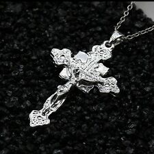 Fashion  silver Jesus Cross Crucifix   Pendant Jewelry