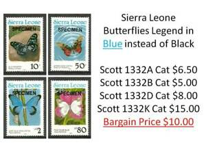 Sierra Leone 1990/1991 MNH Insects Moths Butterflies Blue Legend - High Values