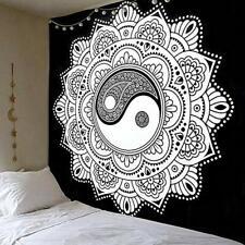 JOXJOZ 79x59 inch Handicraft Black and White Beach Tapestry Hippie Mandala