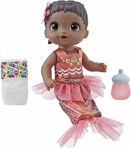 Baby Alive Shimmer n Splash Mermaid Baby Doll (African American) Ages 3 and up