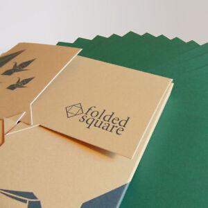 Green Origami Paper | 100 Sheets, 15cm Square | Pantone 341
