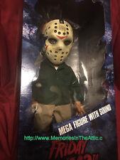 "Mezco Jumbo Friday 13th Jason MEGA 15"" With Sound Knife Large Figure Collector"