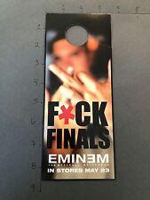 New listing Very Rare Door Hanger Promo Advertising Eminem Marshall Mathers Lp F*Ck Finals