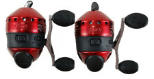 (Lot Of 2) Zebco 33 Custom Red Gear Ratio Spincast Reel With 10Lb Line 21-10472