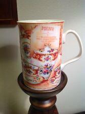 "ROYAL ALBERT LADY CARLYLE AFTERNOON TEA MUG CUP 3 7/8"" T x 2.75"" RIM"