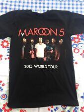 Maroon 5 2015 Tour Tshirt Black S Unisex